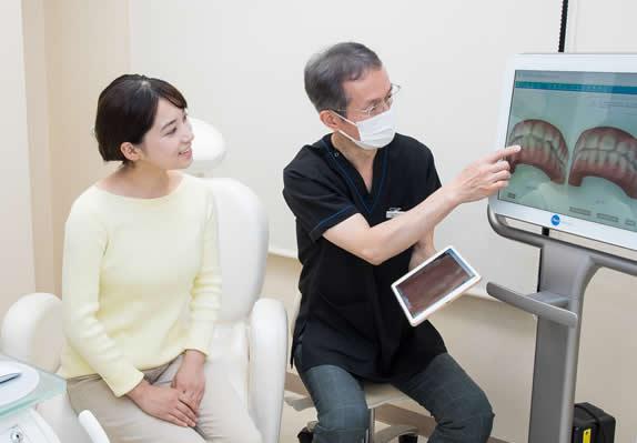 矯正治療後の歯並びを確認
